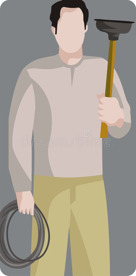Série da ilustração do trabalhador ilustração stock