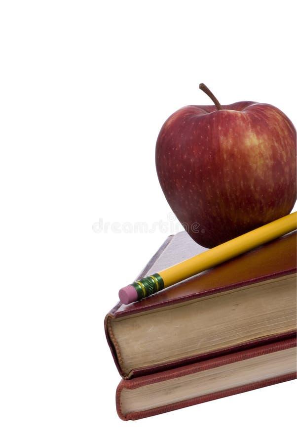 Série da instrução (maçã nos livros 3) foto de stock royalty free