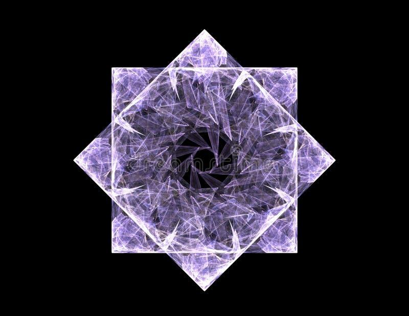 Série das partículas elementares A interação do fractal abstrato forma a propósito da ciência da física nuclear e do projeto gráf ilustração royalty free