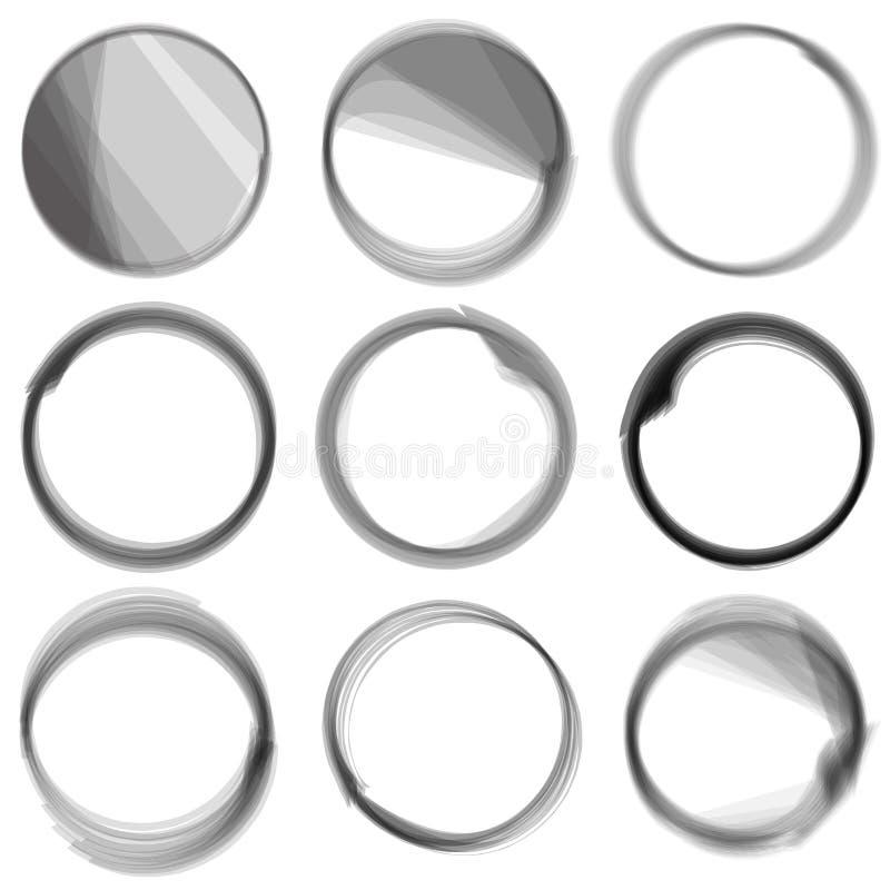 Série de cercles. illustration de vecteur