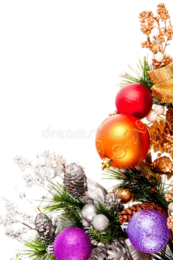 Série de décoration de coin d'ornement de Noël image stock