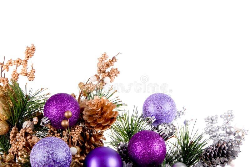 Série de décoration de coin d'ornement de Noël photos libres de droits