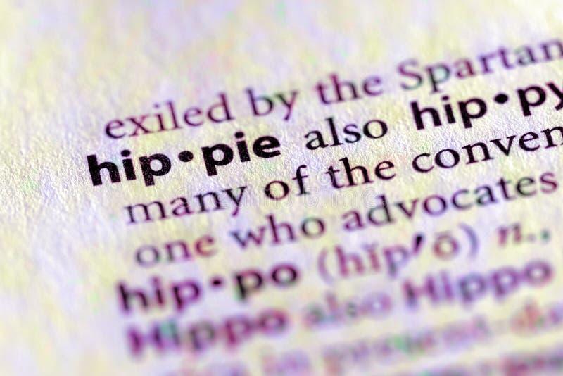 Série de dictionnaire - environnement : hippie images libres de droits
