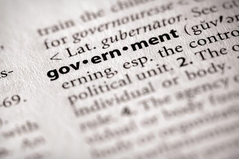 Série de dictionnaire - la politique : gouvernement photographie stock libre de droits