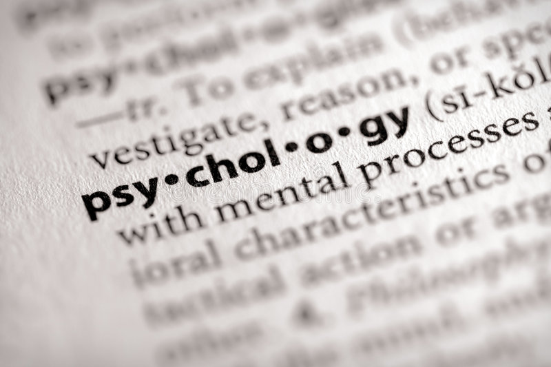 Série de dictionnaire - psychologie : psychologie photos stock
