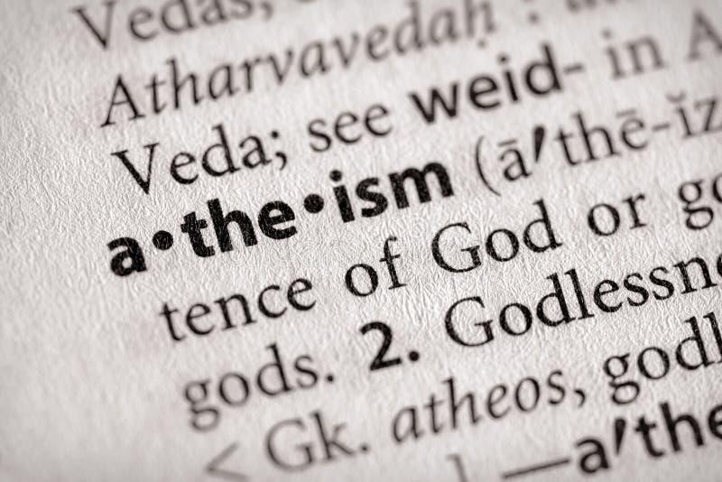 Série de dictionnaire - religion : athéisme image libre de droits