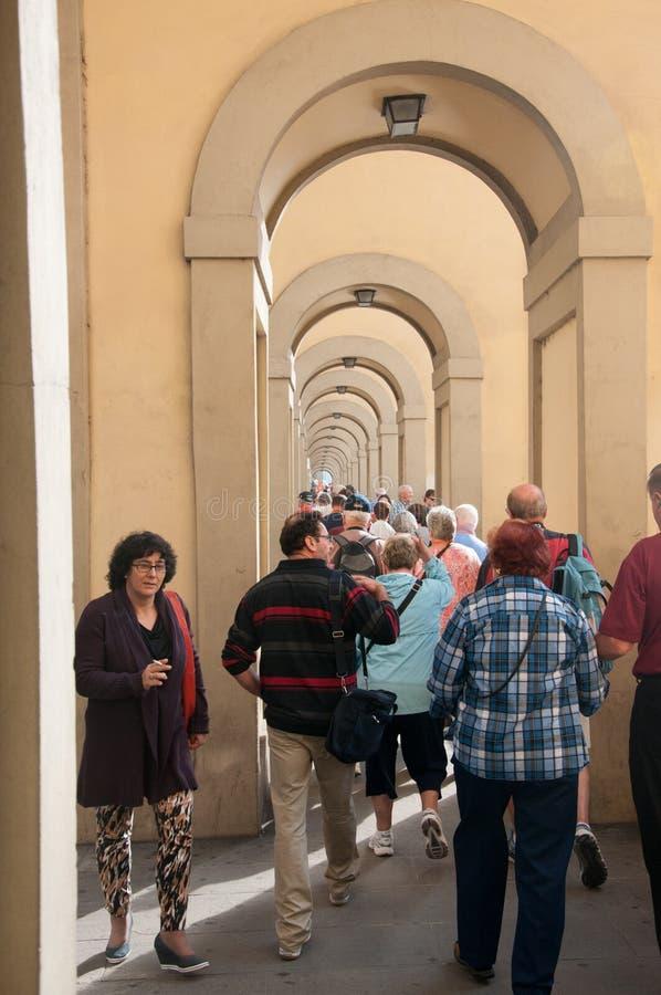Série de entradas Arched em Florença, Itália imagens de stock royalty free
