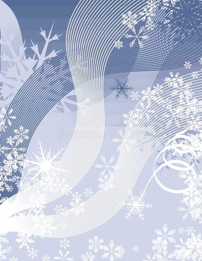 Série de fond de flocon de neige illustration stock