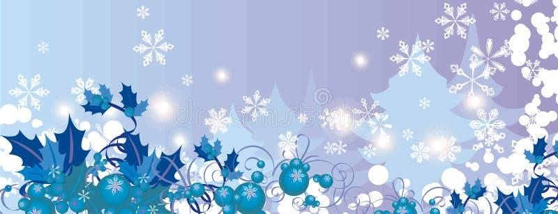 Série de fond de l'hiver illustration de vecteur