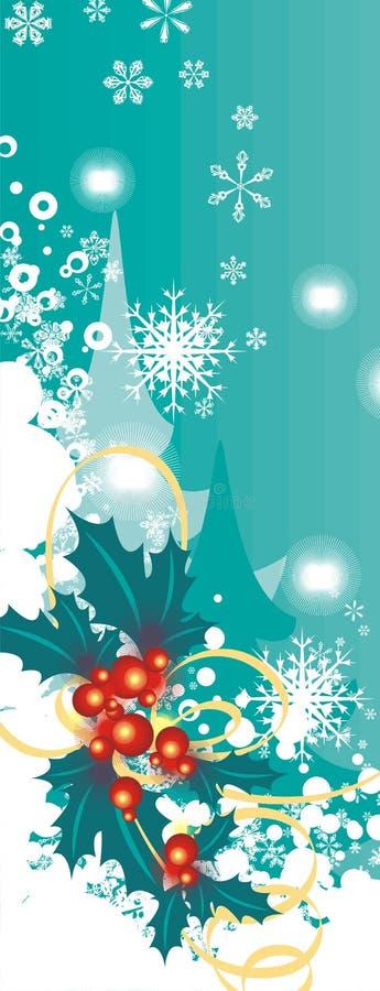 Série de fond de l'hiver illustration stock