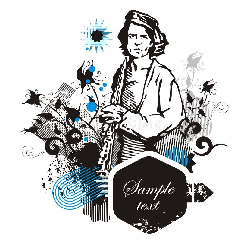 Série de fond de musicien illustration stock