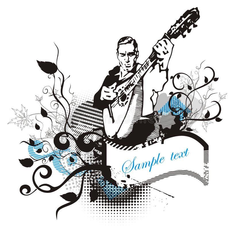 Série de fond de musicien illustration libre de droits