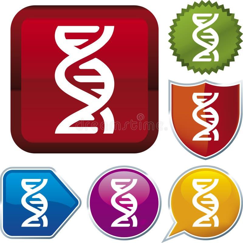 Série de graphisme : ADN illustration de vecteur