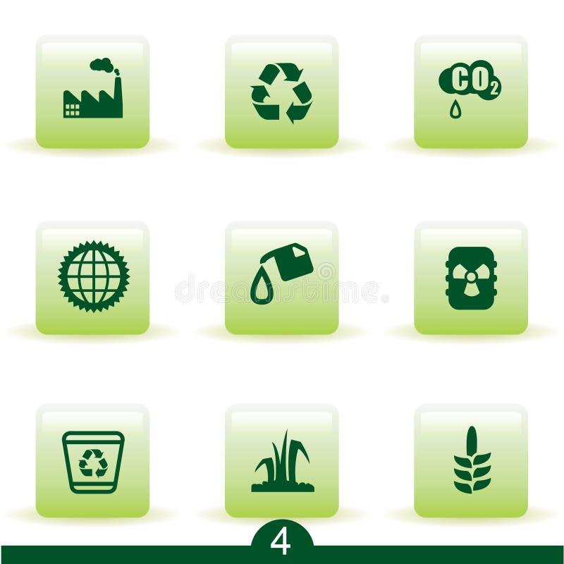 Série de graphisme d'écologie illustration stock