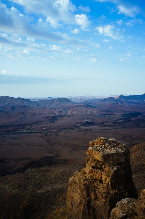 Série de Holyland - lever de soleil Pano9 de Ramon Crater Makhtesh photos libres de droits