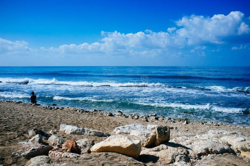 Série de Holyland - plages 2 de Haïfa photographie stock libre de droits