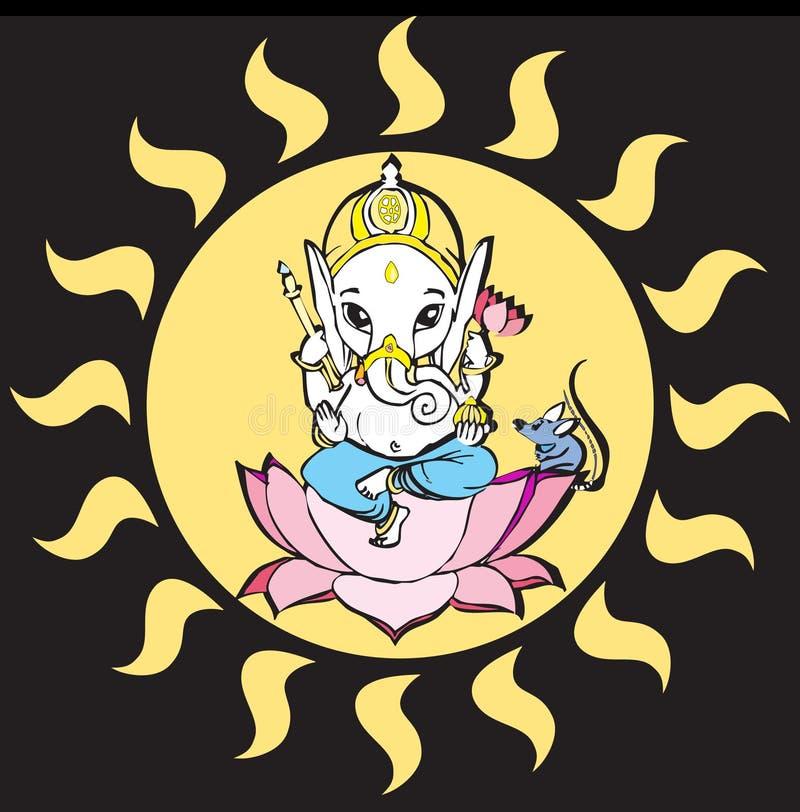 Série de India - Ganesh ilustração royalty free