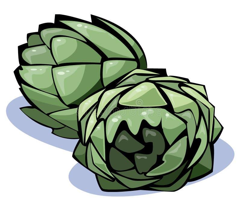 Série de légumes : artichauts illustration de vecteur