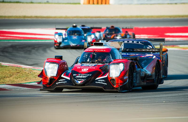 Série de Le Mans do europeu - 4Hours de Barcelona fotografia de stock royalty free