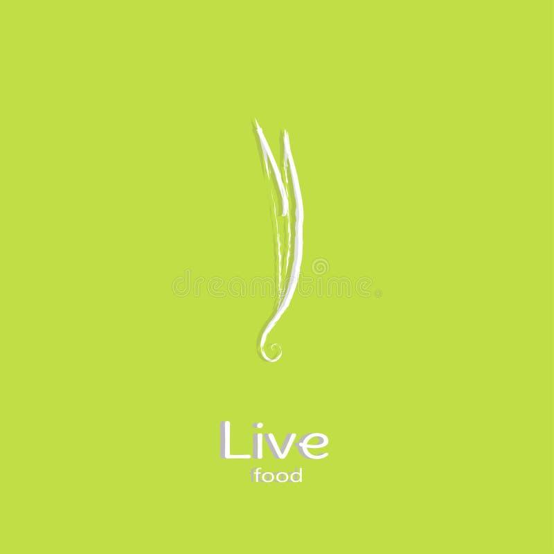 Série de logo - légumes photographie stock