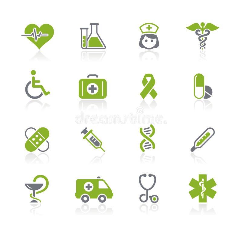 Série de // Natura do cuidado da medicina & da charneca ilustração royalty free