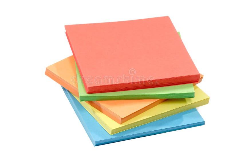 Série de papier coloré images libres de droits