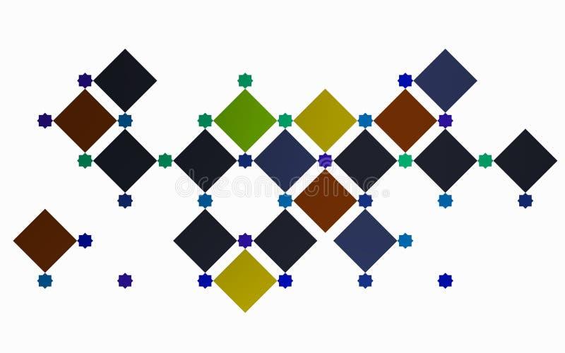 Série de places dans une composition moderne illustration de vecteur