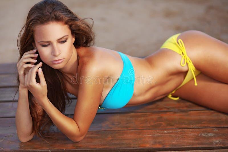 Série de plage de mannequin photos stock