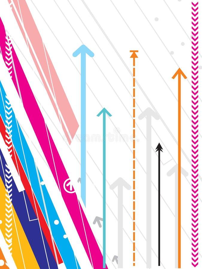 Série de pointe de fond de vecteur avec le détail de flèche illustration libre de droits