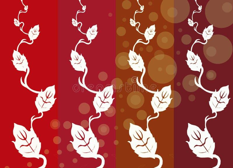 Série de potência 01 da flor ilustração stock