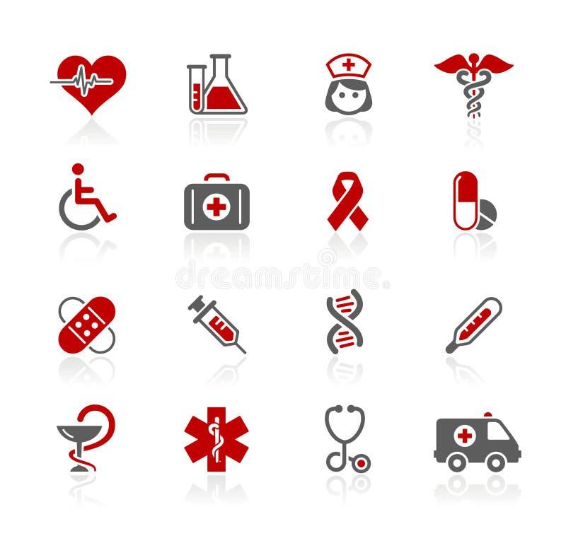 Série de // Redico do cuidado da medicina & da charneca ilustração royalty free