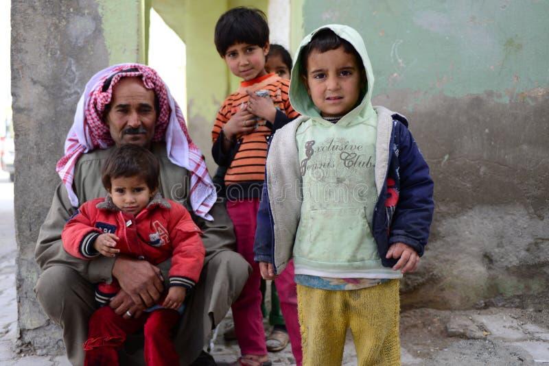 Série de retratos de refugiados do sírio das crianças foto de stock