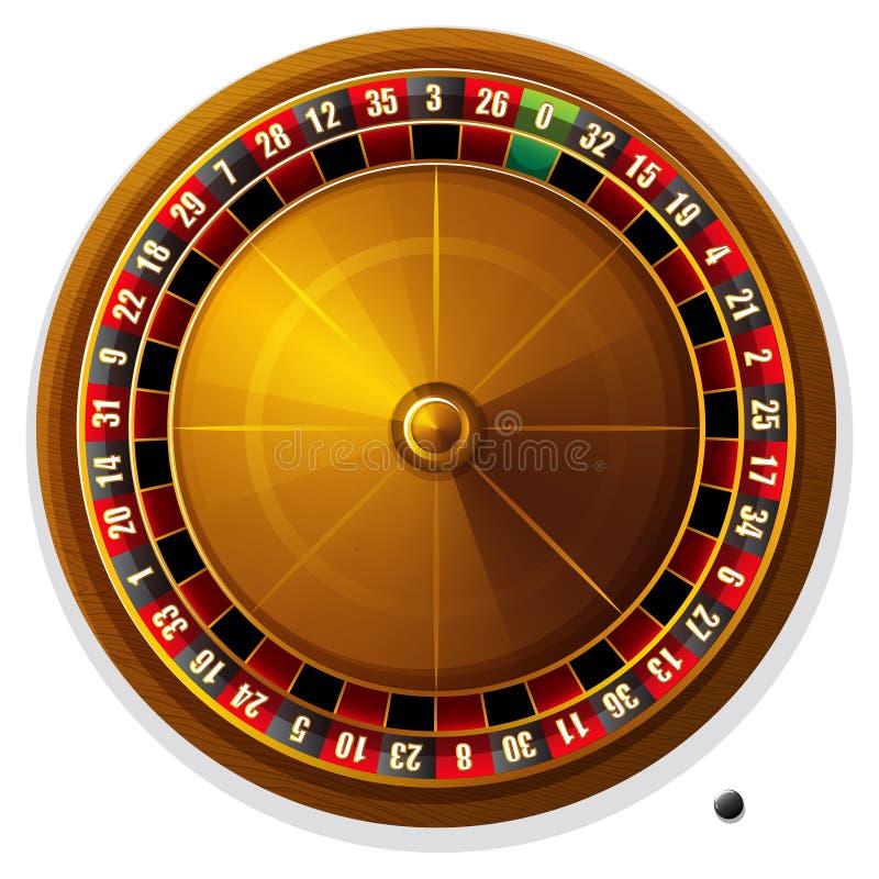 série de roulette de tisonnier de puces de casino illustration de vecteur