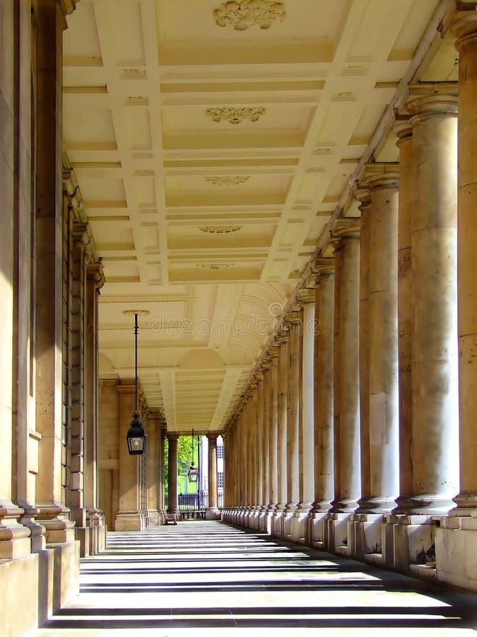 Série de sepia das colunas imagens de stock