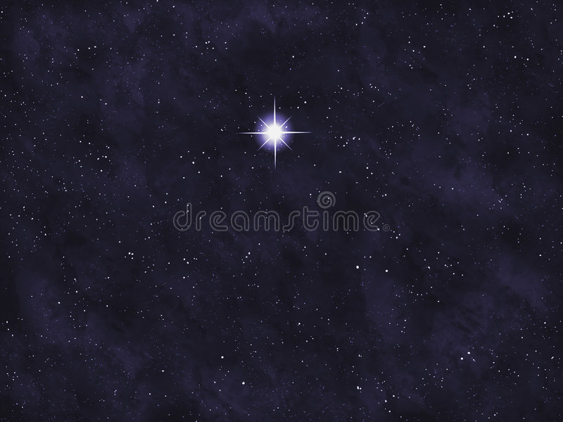 Série de Starfield : Étoile lumineuse photos libres de droits