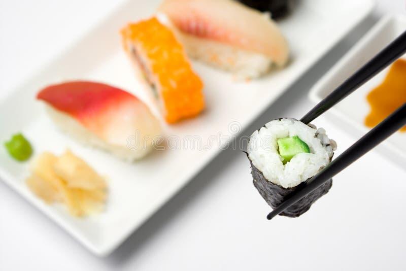 Série de sushi - Kappamaki images libres de droits