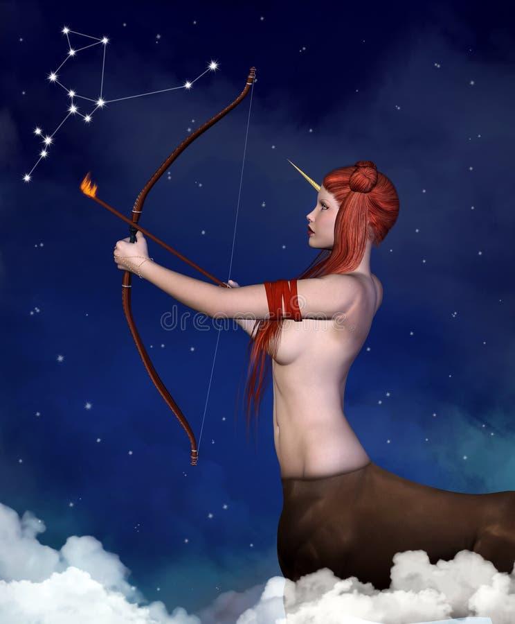 Série de zodiaque - Sagittaire illustration stock