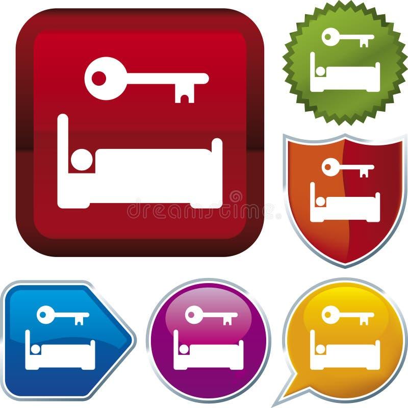 Série do ícone: acomodação ilustração royalty free