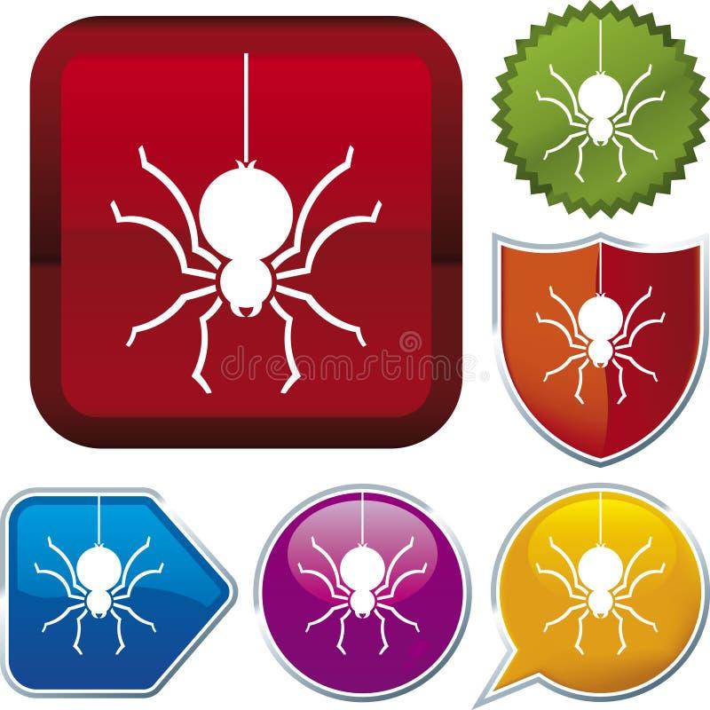 Série do ícone: aranha ilustração stock