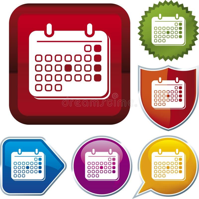 Série do ícone: calendário ilustração royalty free