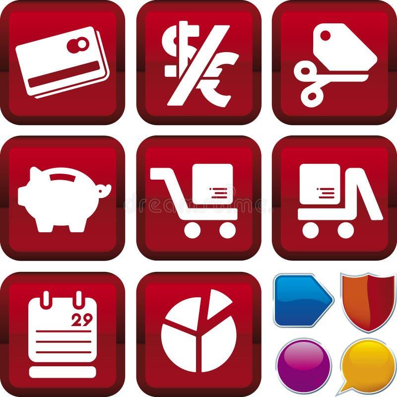 Série do ícone: comércio electrónico ilustração do vetor