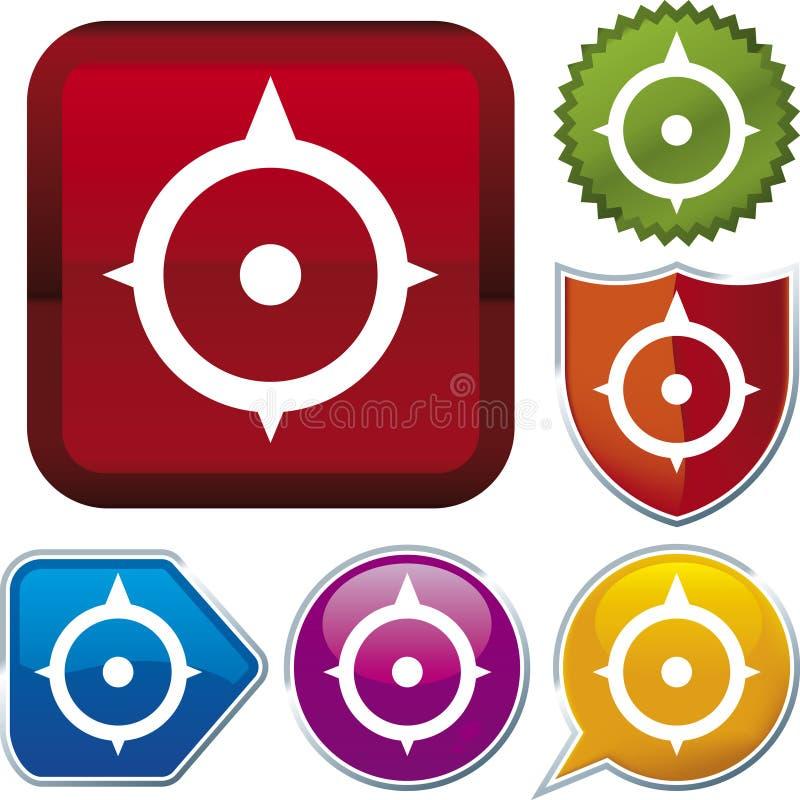 Série do ícone: compasso (vetor) ilustração stock
