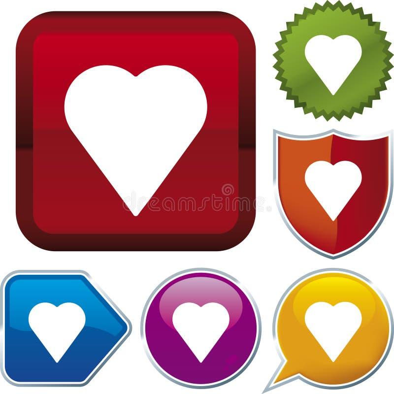 Série do ícone: coração (vetor) ilustração stock