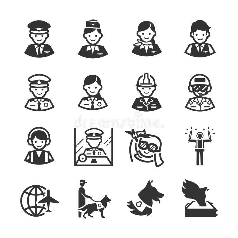 Série 3 do ícone da aviação ilustração royalty free