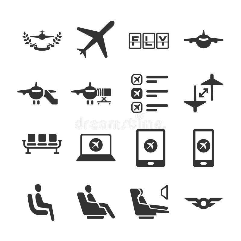 Série 6 do ícone da aviação ilustração stock