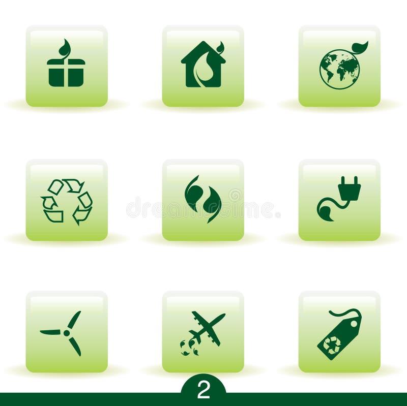 Série do ícone da ecologia ilustração do vetor