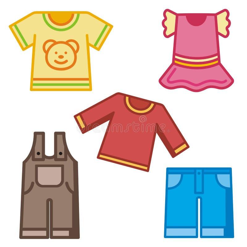 Série do ícone do bebê e dos miúdos