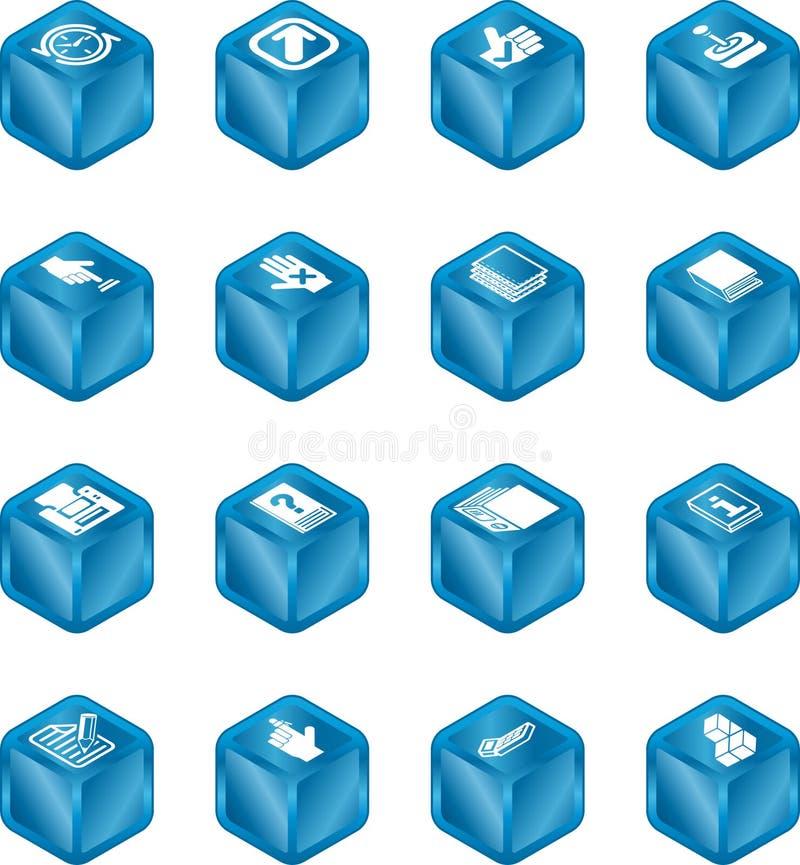 Série do ícone do cubo das aplicações   ilustração royalty free