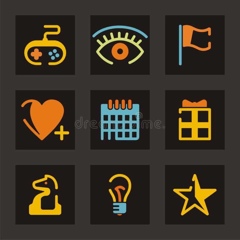 Série do ícone do lazer ilustração stock