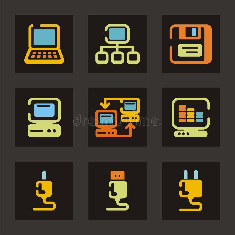 Série do ícone do Web ilustração do vetor